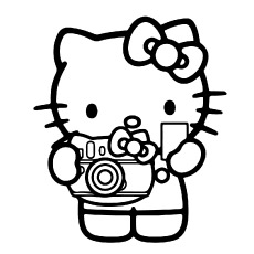 hello kitty free coloring pages # 50