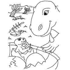 baby dinosaur coloring pages # 7