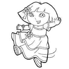 dora coloring pages printable # 7