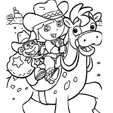 dora coloring pages printable # 21
