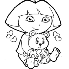 dora coloring pages printable # 12