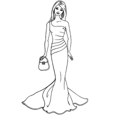 barbie coloring pages # 22
