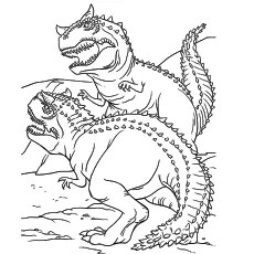 free printable dinosaur coloring pages # 7