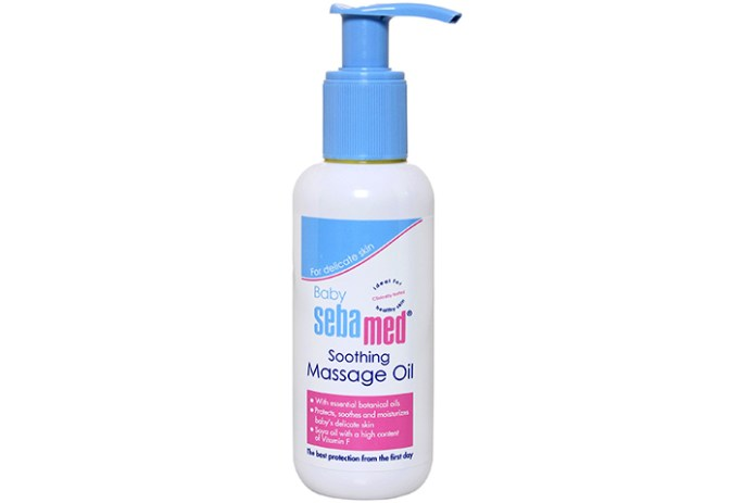 sebamed soothing massage oil