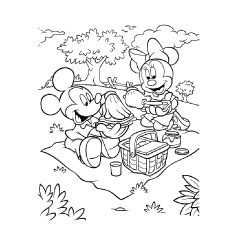 free minnie mouse coloring pages # 10