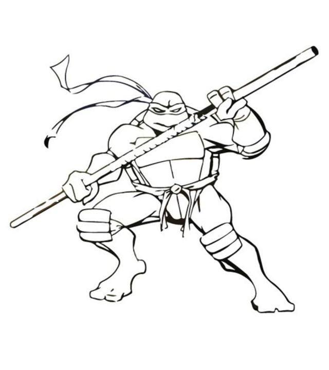 Top 28 Free Printable Ninja Turtles Coloring Pages Online