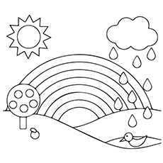 Rainbow coloring page | Coloring pages, Printable coloring pages ... | 230x230