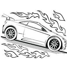 hot wheel coloring pages # 3