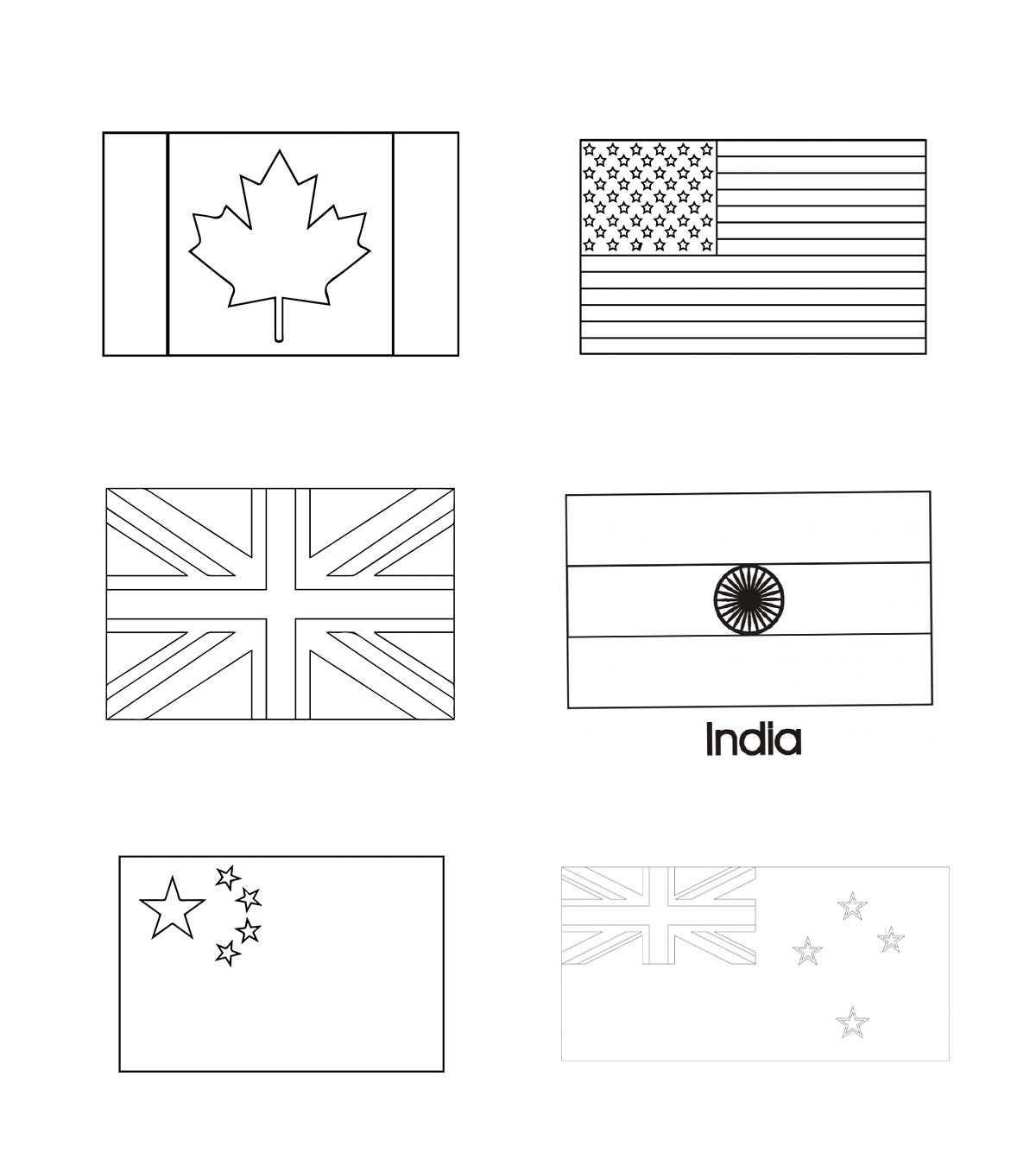 Countries Coloring Pages