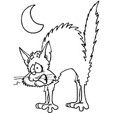 black cat coloring page # 4