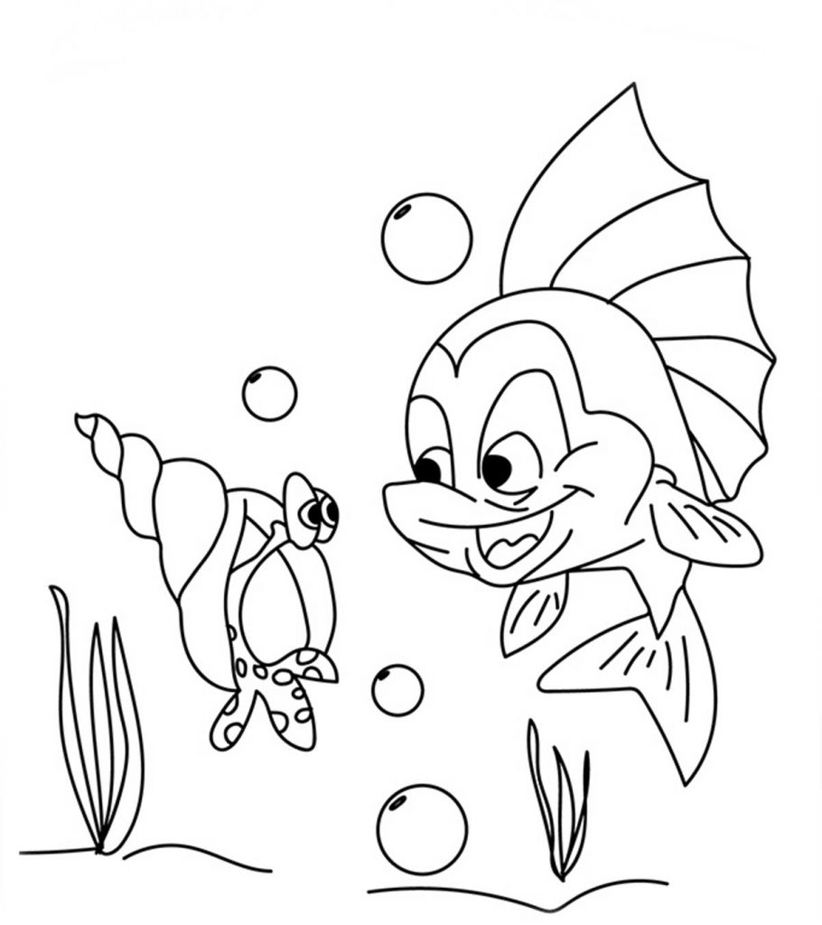 Top 25 Free Printable Shell Coloring Pages Online | colouring pages online to print