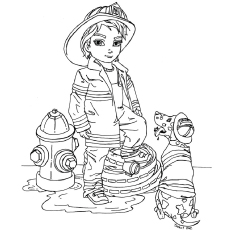 fireman coloring page # 64