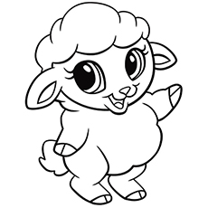 sheep and lamb colouring page lamb sheep coloring page pictures