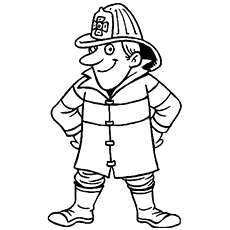 fireman coloring page # 3