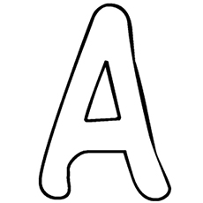 help your kid recognize the letter in its simplest form and then color