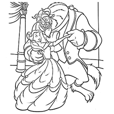 beauty and the beast coloring page # 2