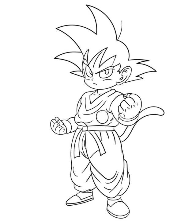 Top 12 Free Printable Dragon Ball Z Coloring Pages Online