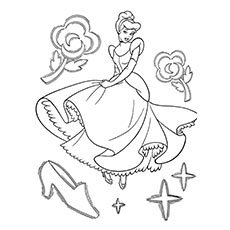 top 25 free printable cinderella coloring pages online