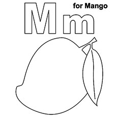letter m coloring page # 6