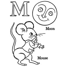 letter m coloring page # 9