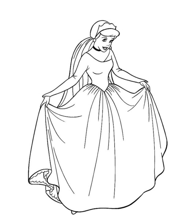 Top 25 Free Printable Princess Coloring Pages Online