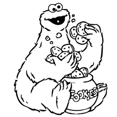 cute monster coloring pages # 48