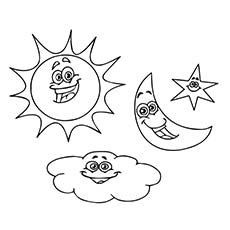 sun moon and stars coloring page - adult coloring pages sun and moon pokemon starters
