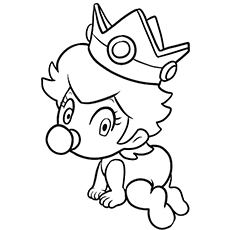 Baby Peach Coloring Pages And Mario 2 Princess In Her Royal 301