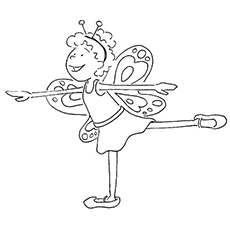 coloring pages onlinecoloring sheet of ballerina dressed in butterfly