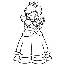top 25 free printable princess peach coloring pages online