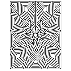 geometric coloring page # 3