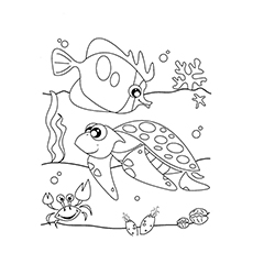 ocean life coloring pages # 2