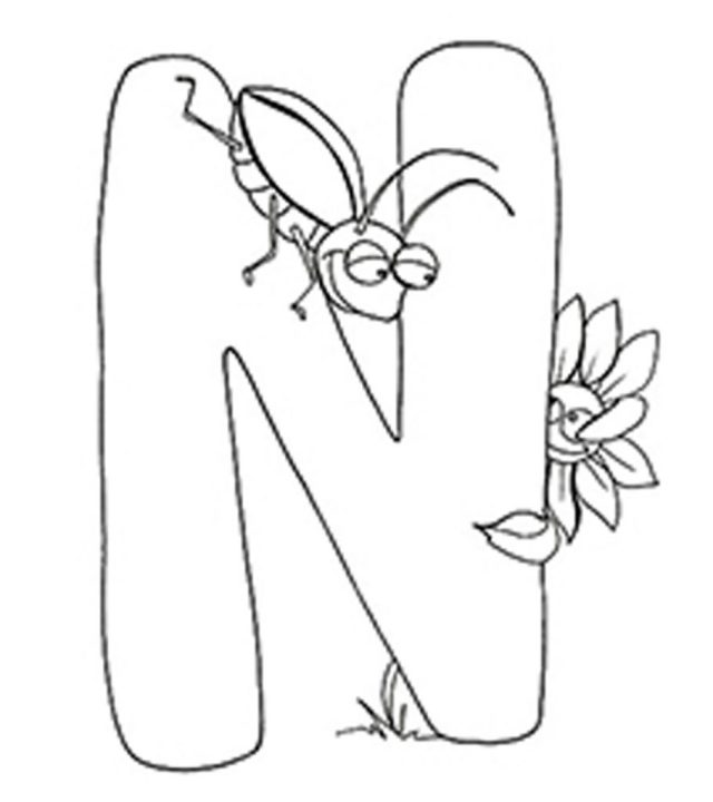 Top 11 Free Printable Letter N Coloring Pages Online