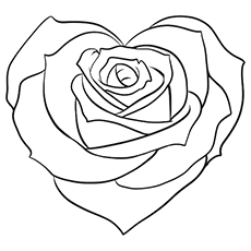 coloring pages roses clettk