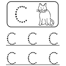 the alphabet writing letter c coloring pages for toddlers