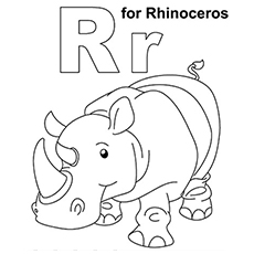 letter r coloring page # 7