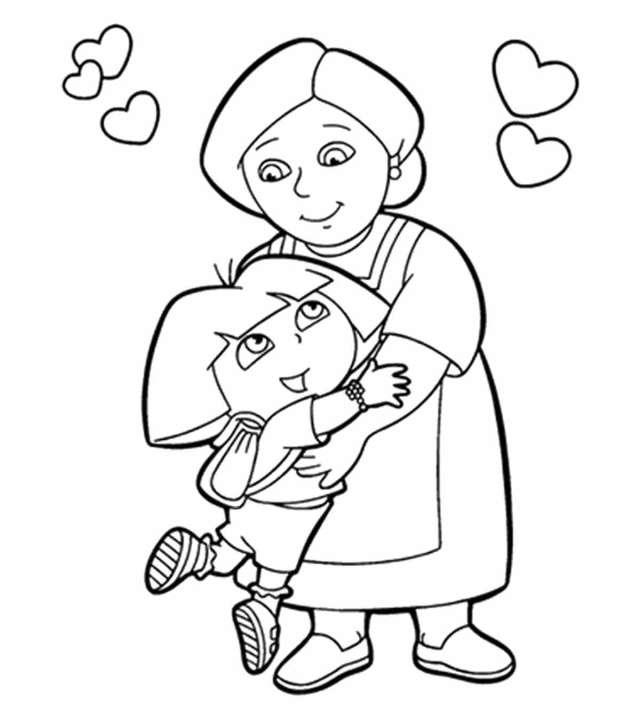 Top 14 Free Printable Grandma Coloring Pages Online