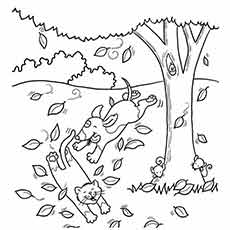 free fall coloring pages printable # 5