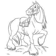 horse coloring pages # 1