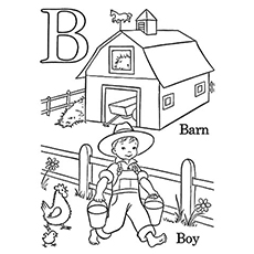 letter b coloring page # 8
