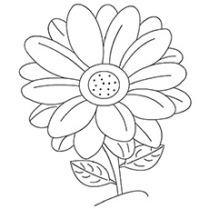 coloring pages flower # 1