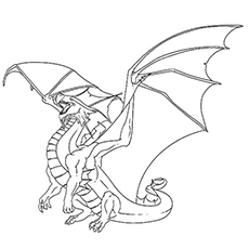 coloring pages dragon # 2
