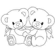 top 20 free printable teddy bear coloring pages online