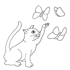 free cat coloring pages # 6