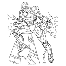 ironman coloring page # 22