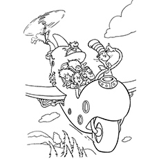 the cat in the hat coloring pages # 4