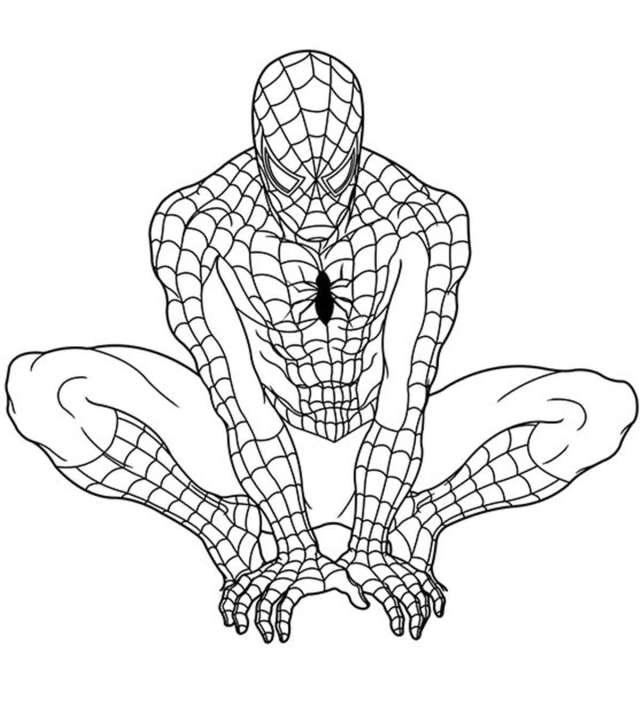 Top 21 Free Printable Superhero Coloring Pages Online