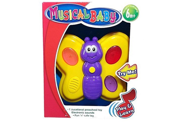 Cute Butterfly Musical Baby Toy (6 Months and Up)