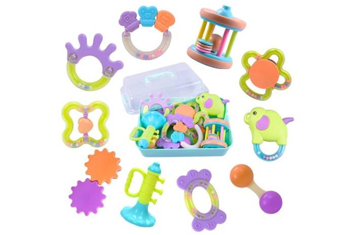 iPlay, iLearn, 10 Baby Rattles and Teething toys