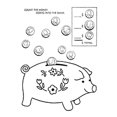 10 piggy bank coloring pages for your little ones